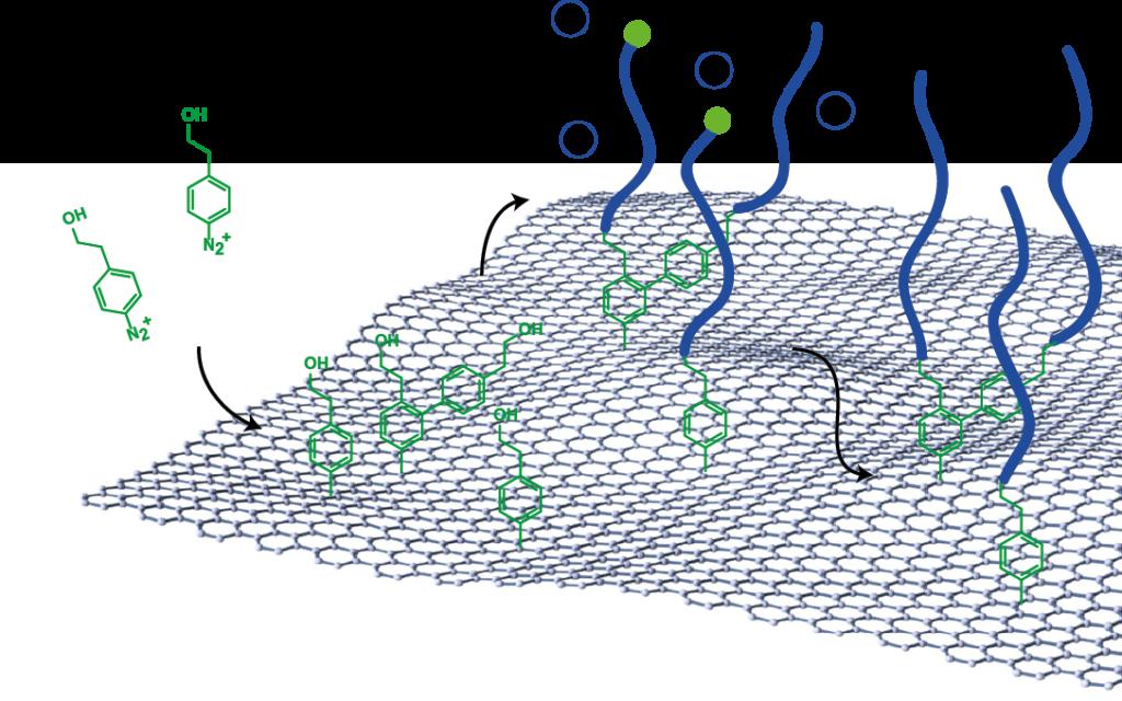 Figure 2: Polymer brushes on graphene